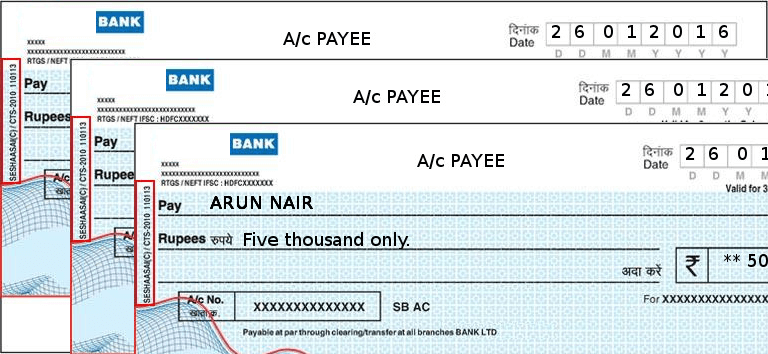 Bulk Cheques can be printed via excel sheet