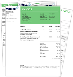 Online format of an Tax Invoice for Distributors