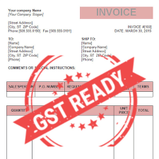 GST Tax Invoice Format through our Online Invoice Software