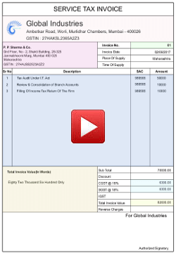 service tax invoice bill format online extremely easy to use customizable gst format for services