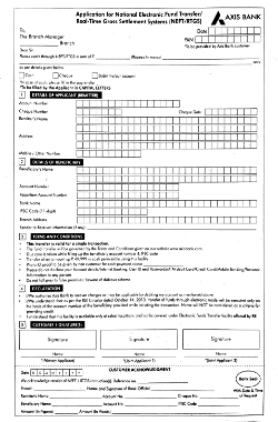 axis bank new rtgs form 2018
