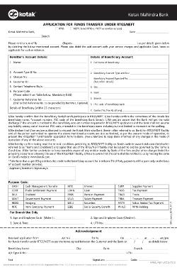 kotak rtgs request form