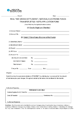 united bank of india neft rtgs application form